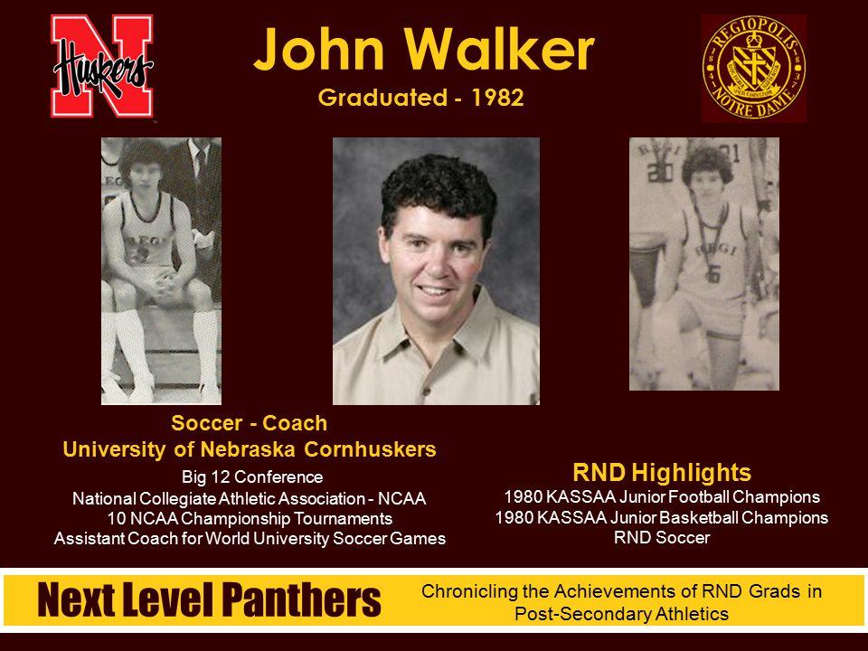 John Walker Graduated - 1982