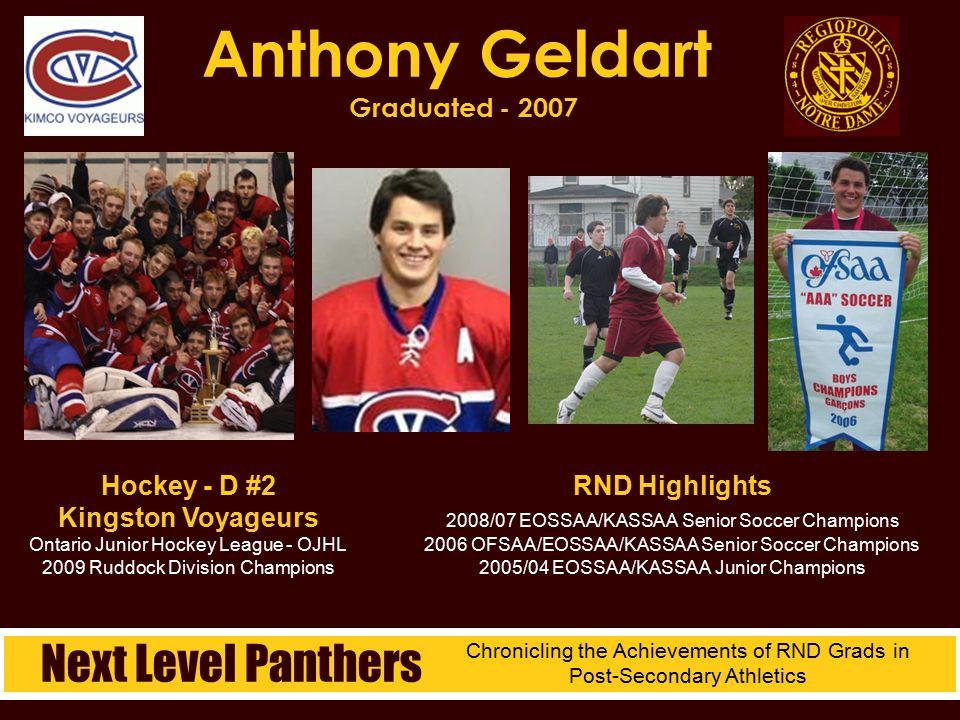 Anthony Geldart Graduated - 2007
