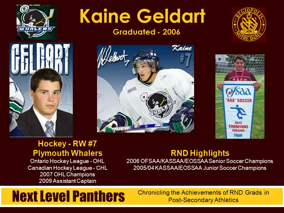 Kaine Geldart Graduated - 2006