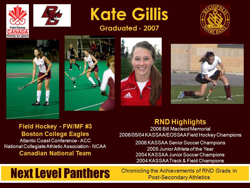 Kate Gillis Graduated - 2007
