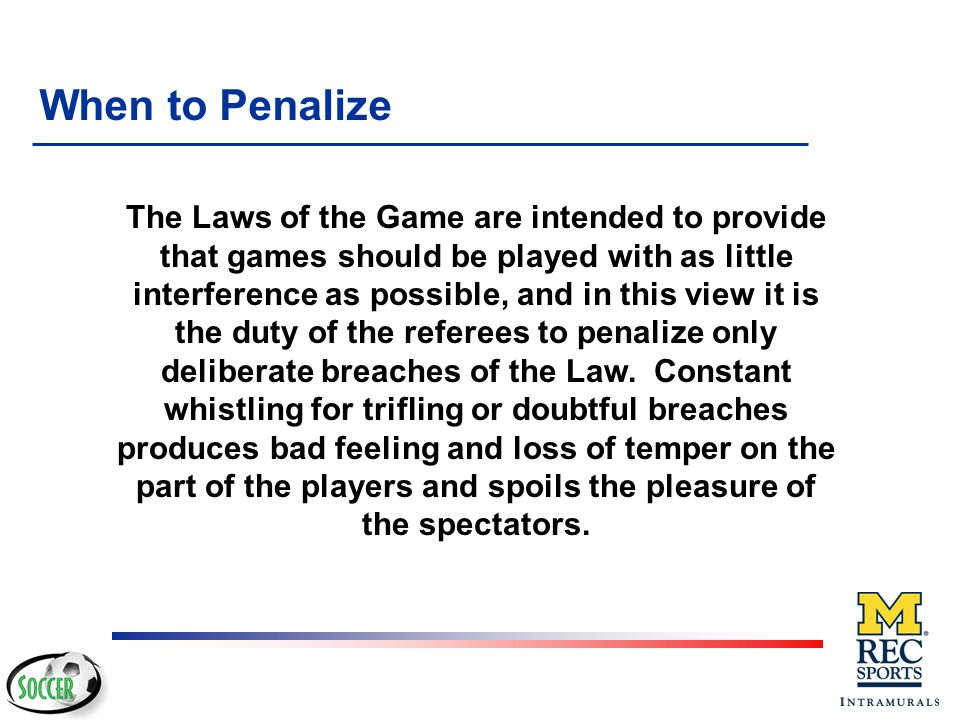 When to Penalize