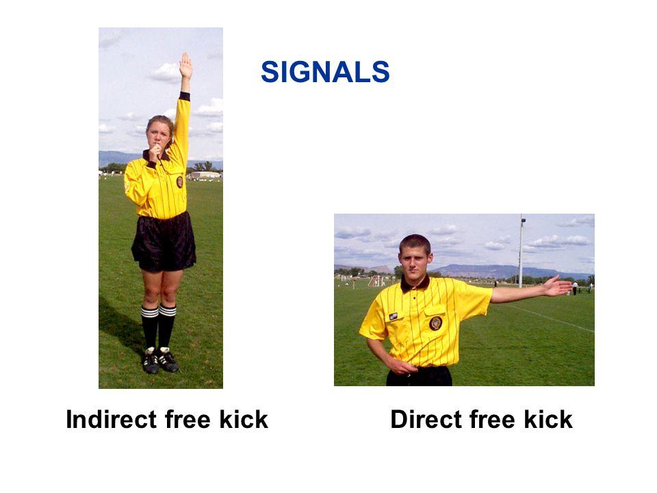 Indirect free kick SIGNALS Direct free kick