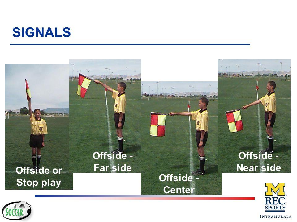 SIGNALS Offside - Far side Offside - Near side Offside or Stop play