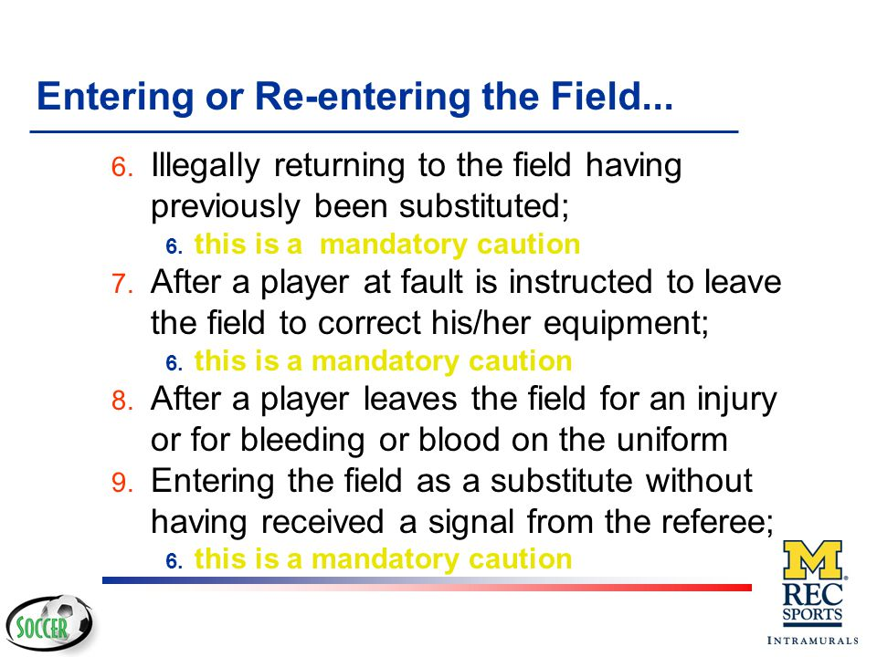 Entering or Re-entering the Field...
