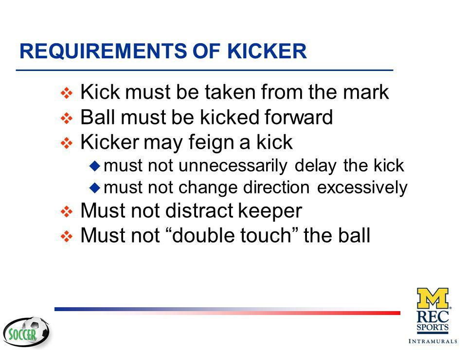 REQUIREMENTS OF KICKER