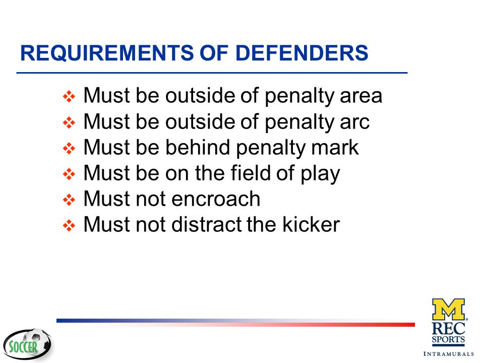 REQUIREMENTS OF DEFENDERS