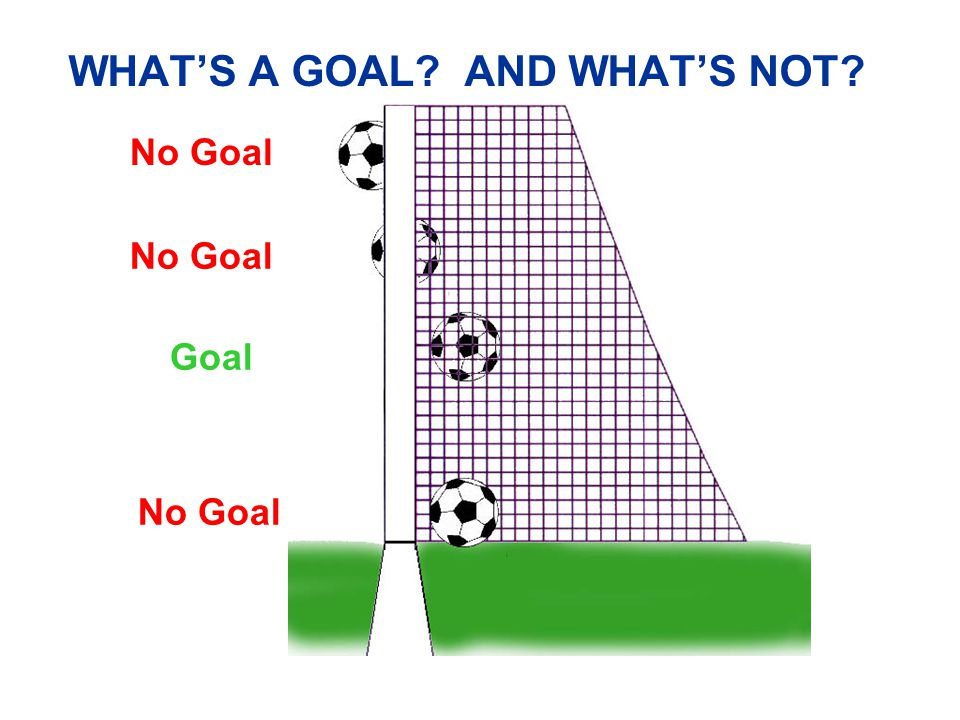 WHAT'S A GOAL AND WHAT'S NOT