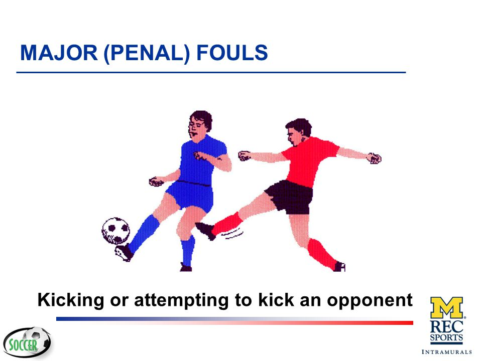 Kicking or attempting to kick an opponent