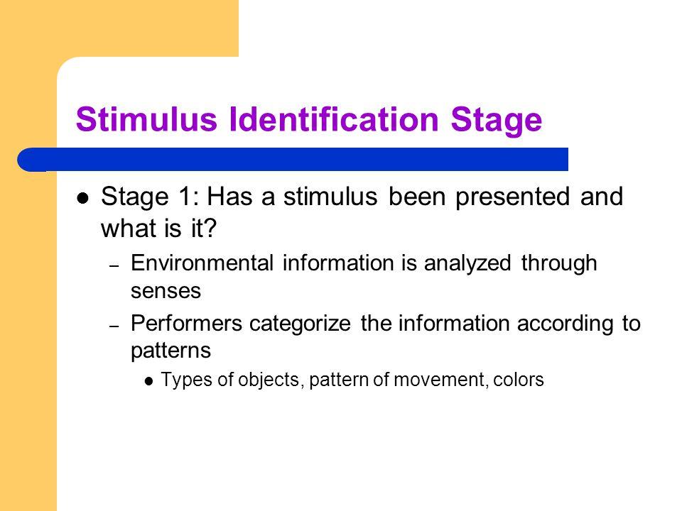 Stimulus Identification Stage