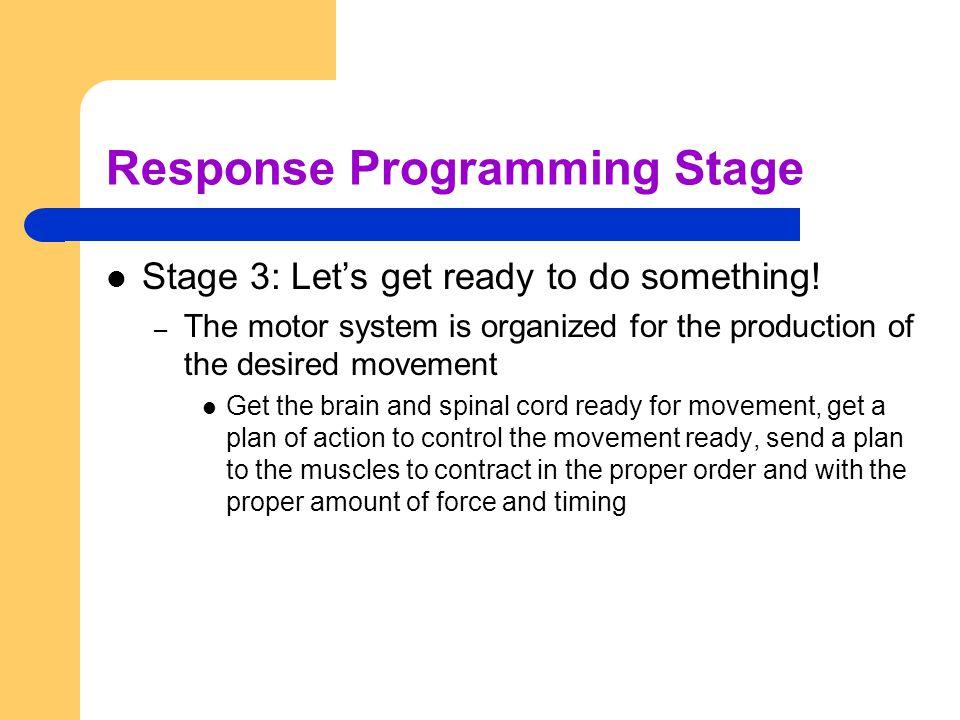 Response Programming Stage