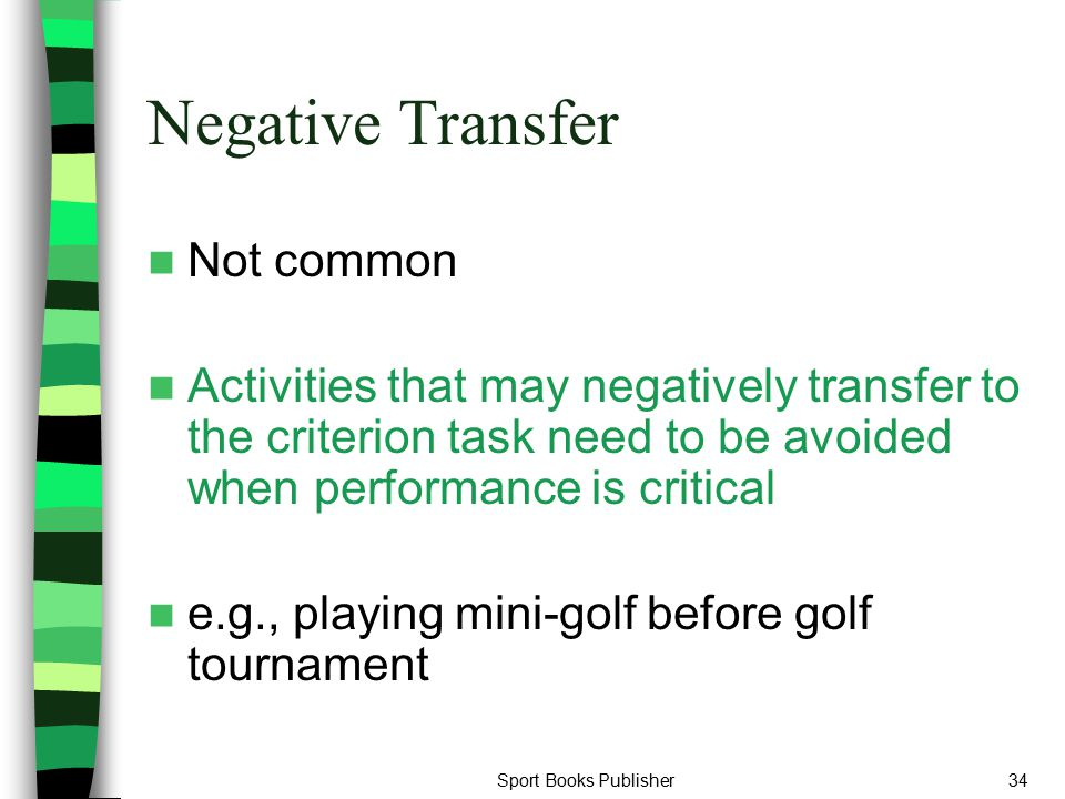 Negative Transfer Not common