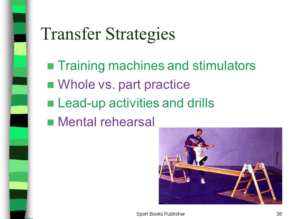 Transfer Strategies Training machines and stimulators