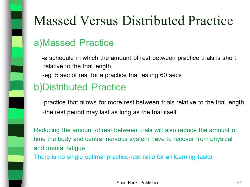 Massed Versus Distributed Practice