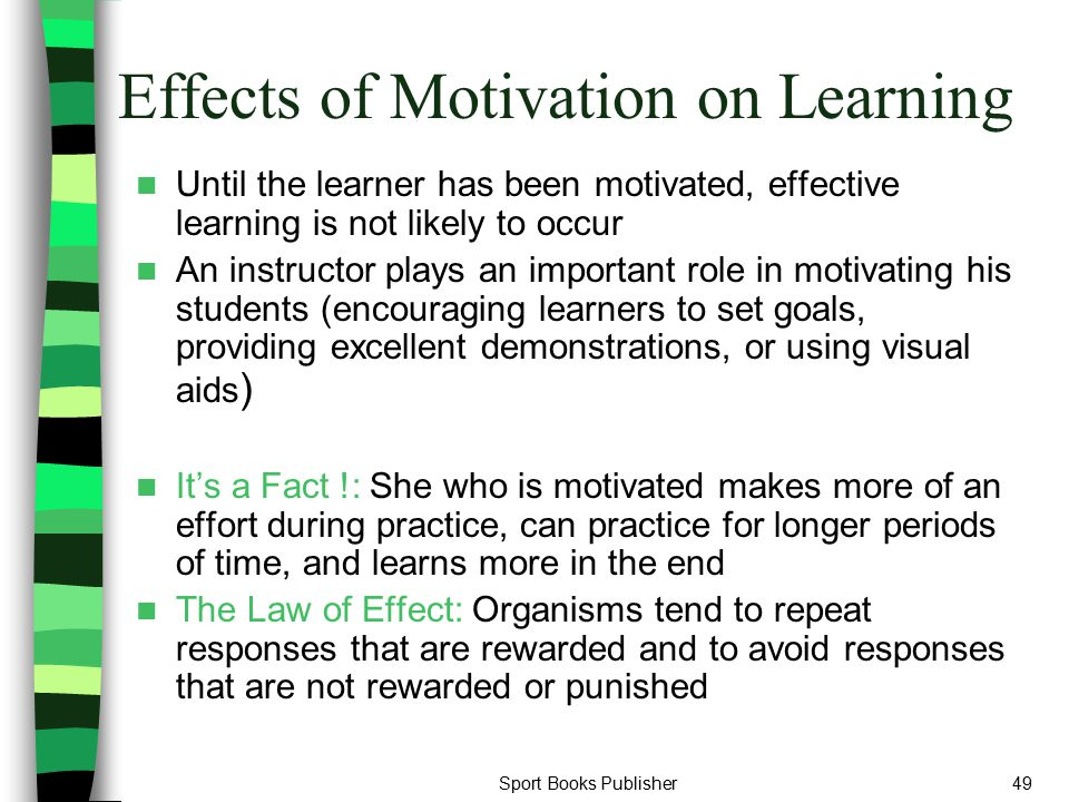Effects of Motivation on Learning