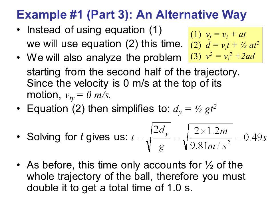Example #1 (Part 3): An Alternative Way