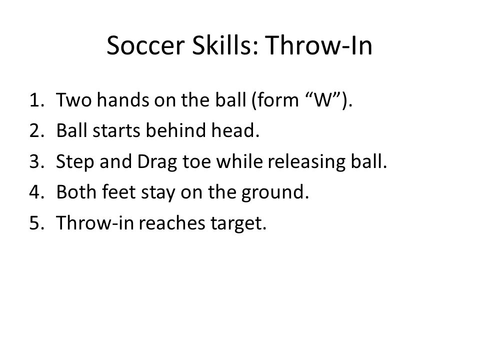 Soccer Skills: Throw-In