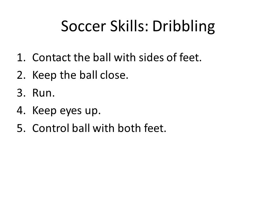 Soccer Skills: Dribbling