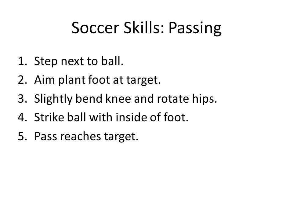 Soccer Skills: Passing
