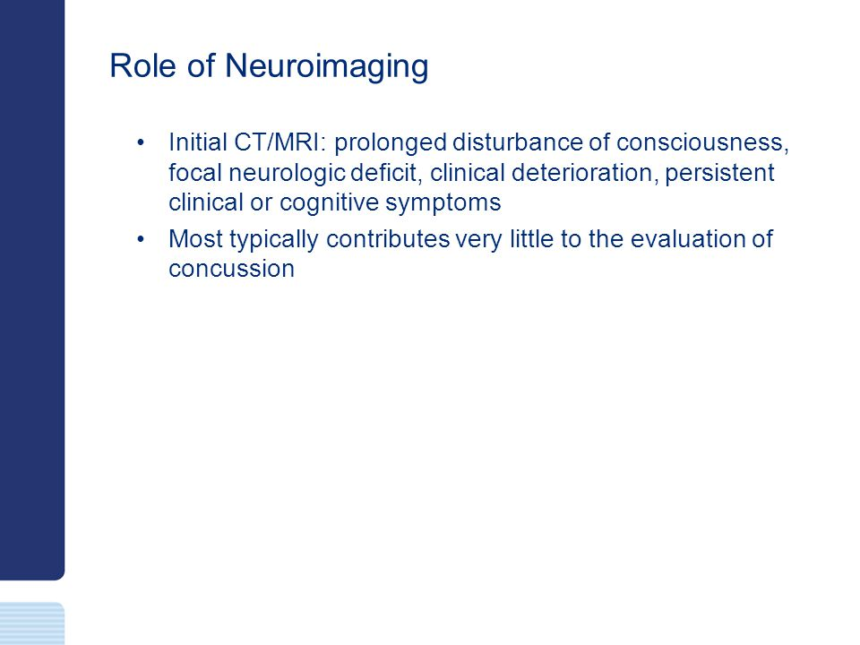 Role of Neuroimaging