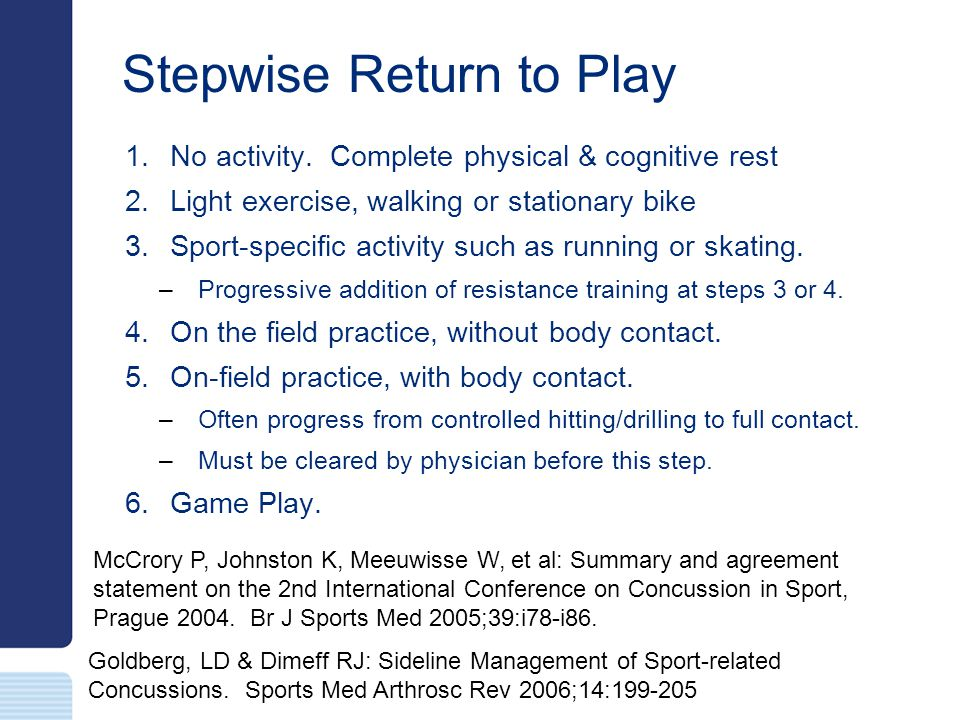Stepwise Return to Play