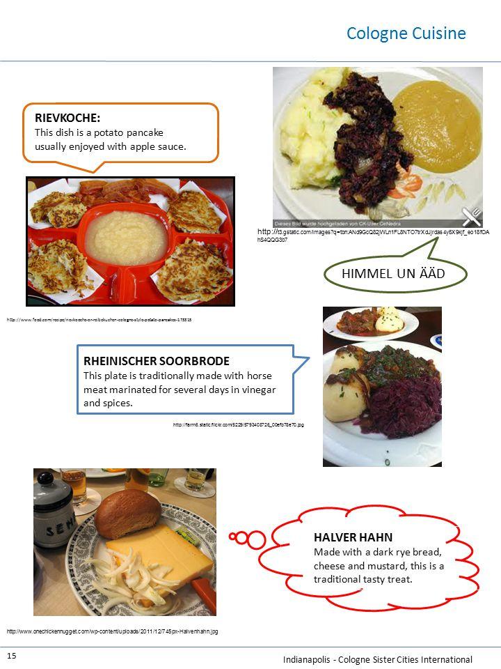 Cologne Cuisine HIMMEL UN ÄÄD RIEVKOCHE: RHEINISCHER SOORBRODE