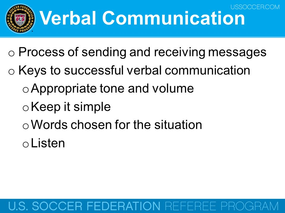 Verbal Communication Process of sending and receiving messages