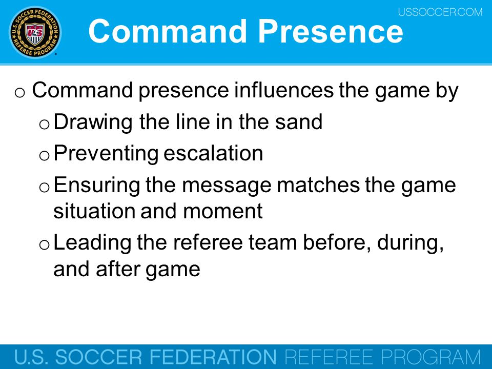 Command Presence Command presence influences the game by