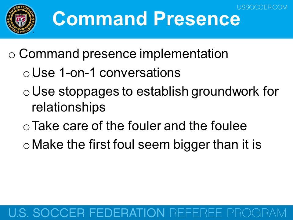 Command Presence Command presence implementation
