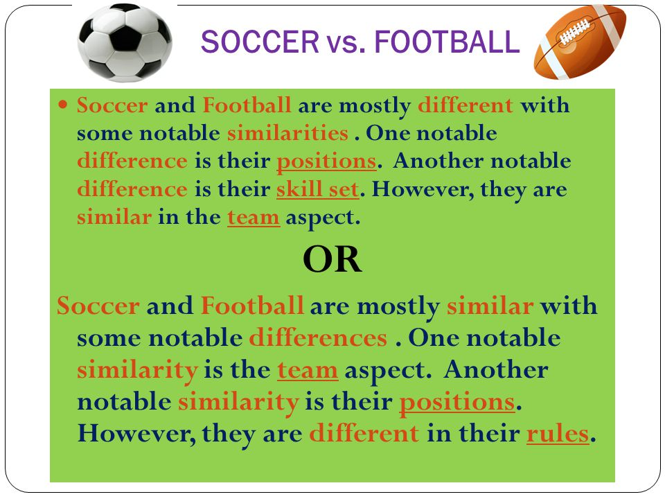 compare and contrast essay ppt video online football