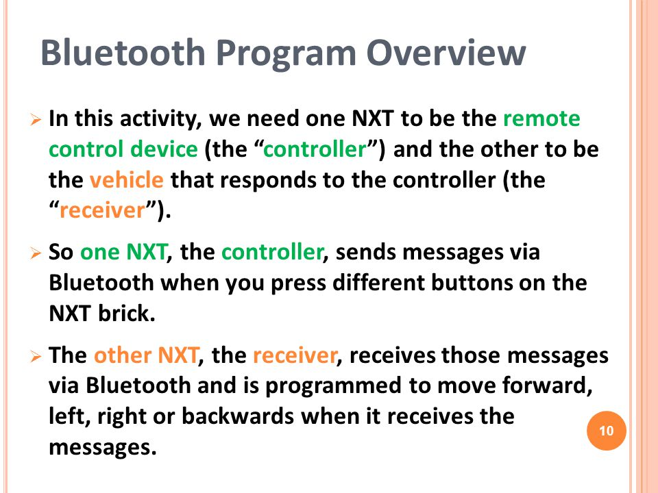 Bluetooth Program Overview