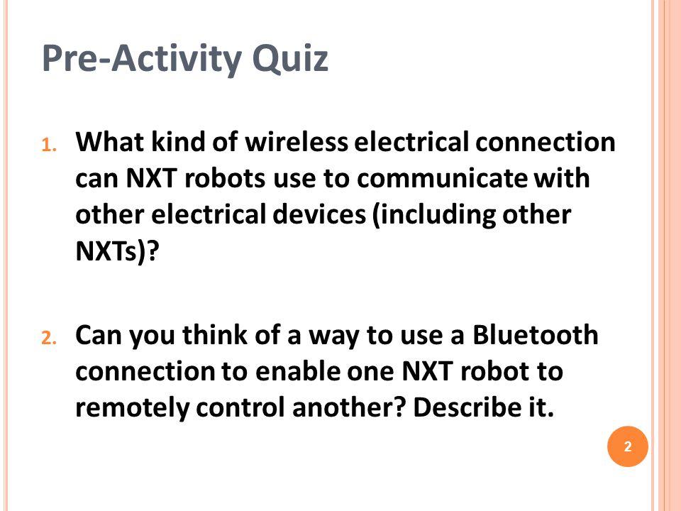 Pre-Activity Quiz