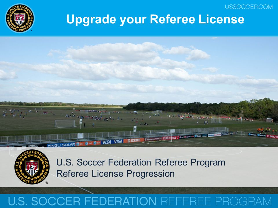 Upgrade your Referee License