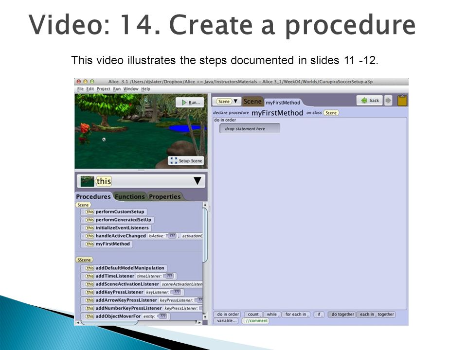 Video: 14. Create a procedure