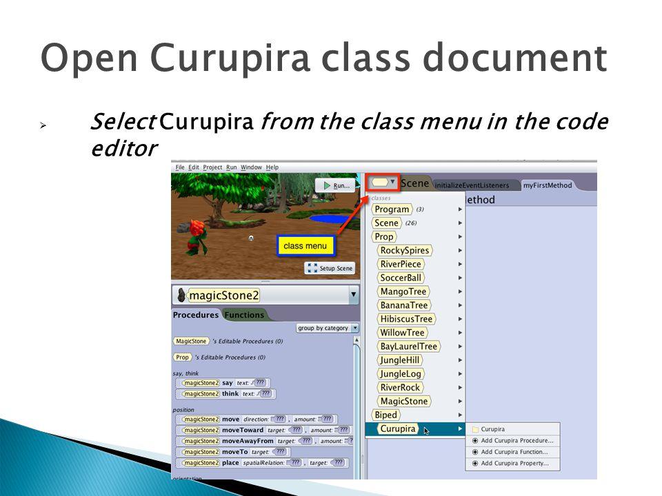 Open Curupira class document