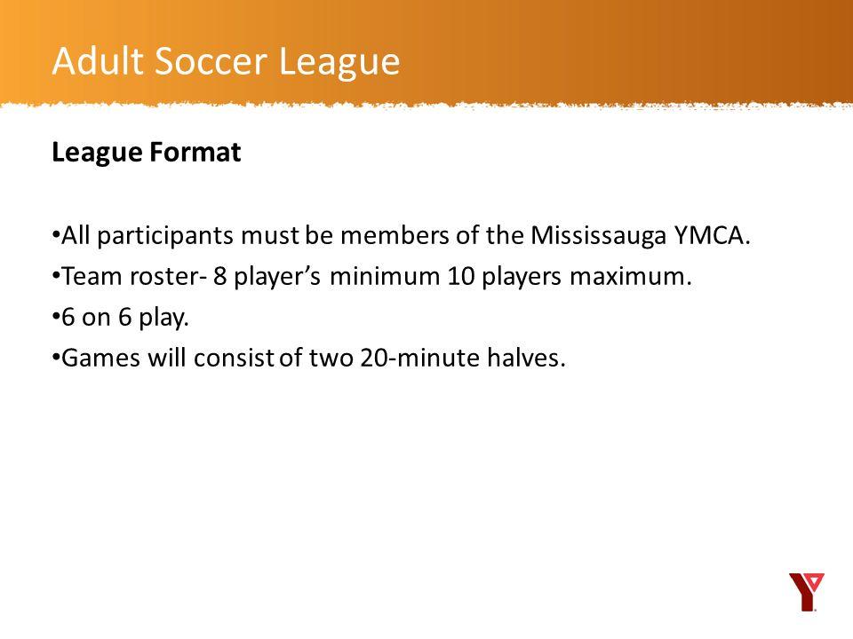 Adult Soccer League League Format
