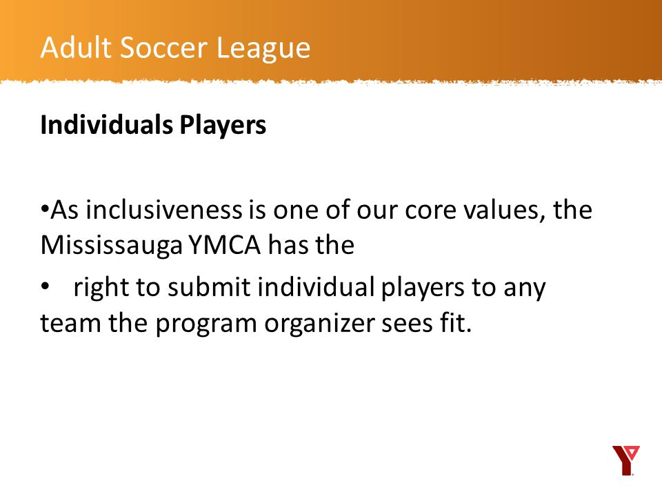 Adult Soccer League Individuals Players