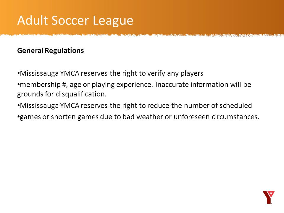 Adult Soccer League General Regulations