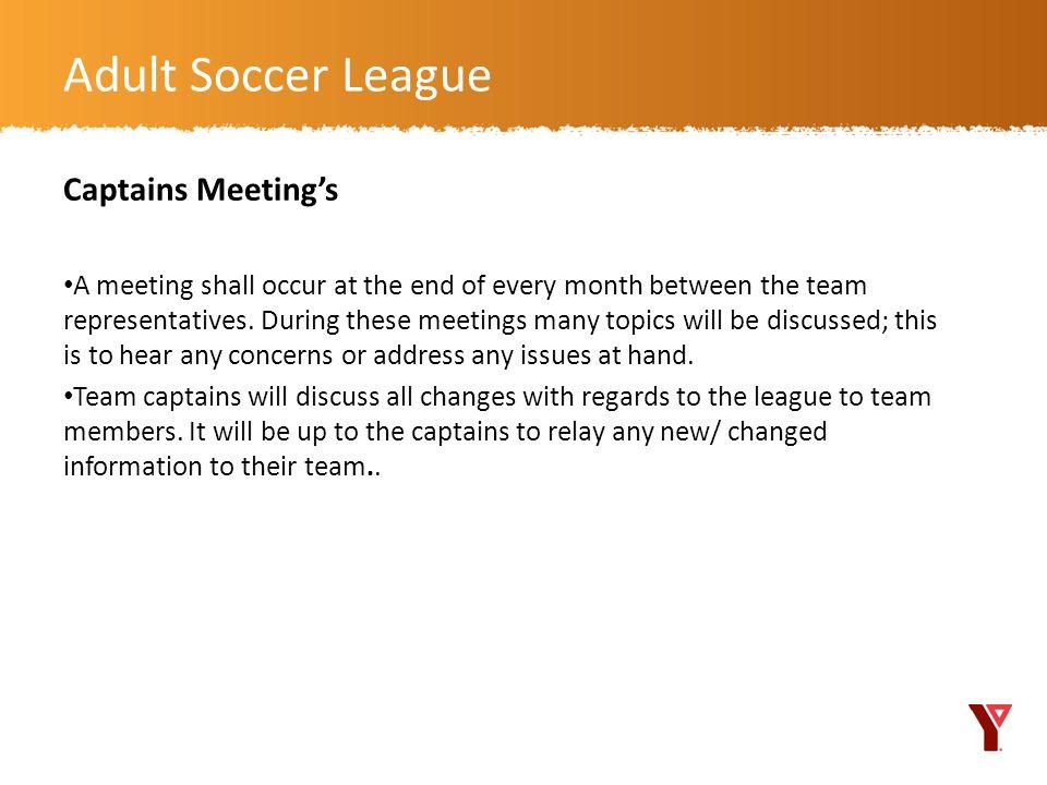 Adult Soccer League Captains Meeting's