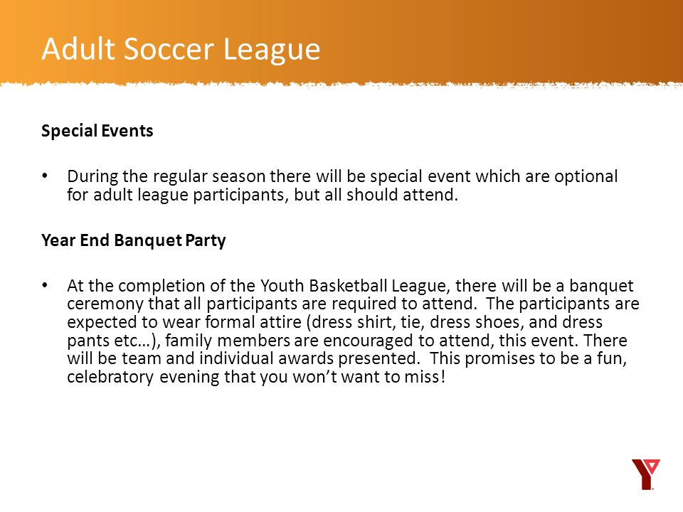 Adult Soccer League Special Events