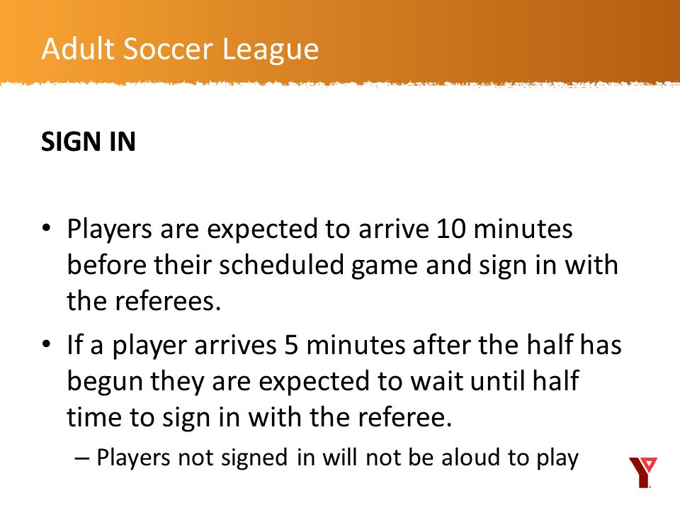 Adult Soccer League SIGN IN