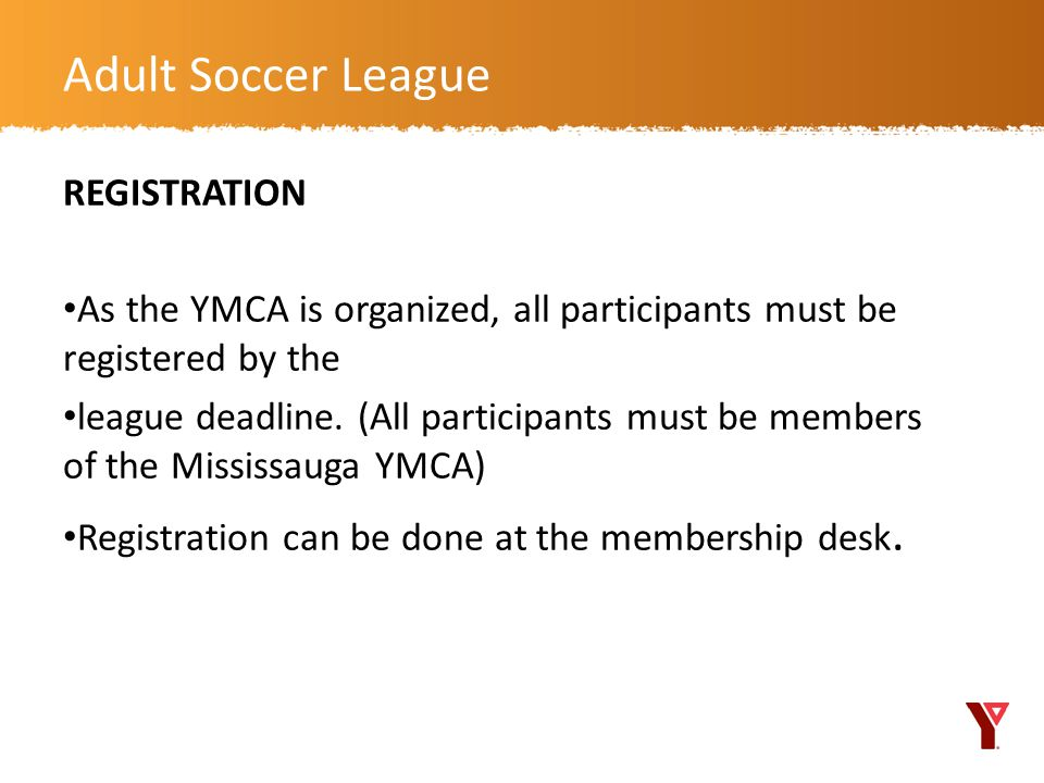 Adult Soccer League REGISTRATION