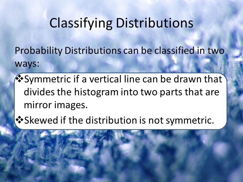 Classifying Distributions