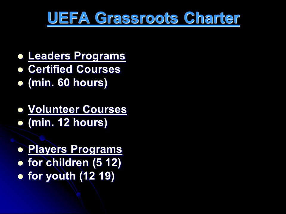 UEFA Grassroots Charter