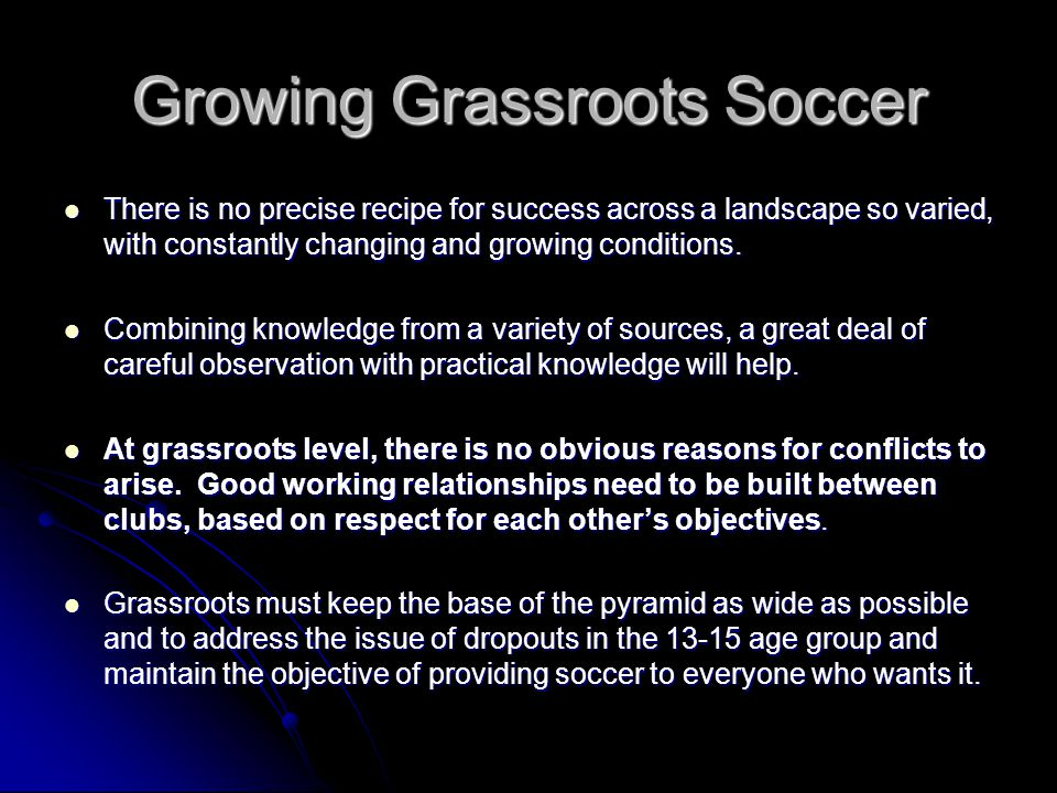Growing Grassroots Soccer