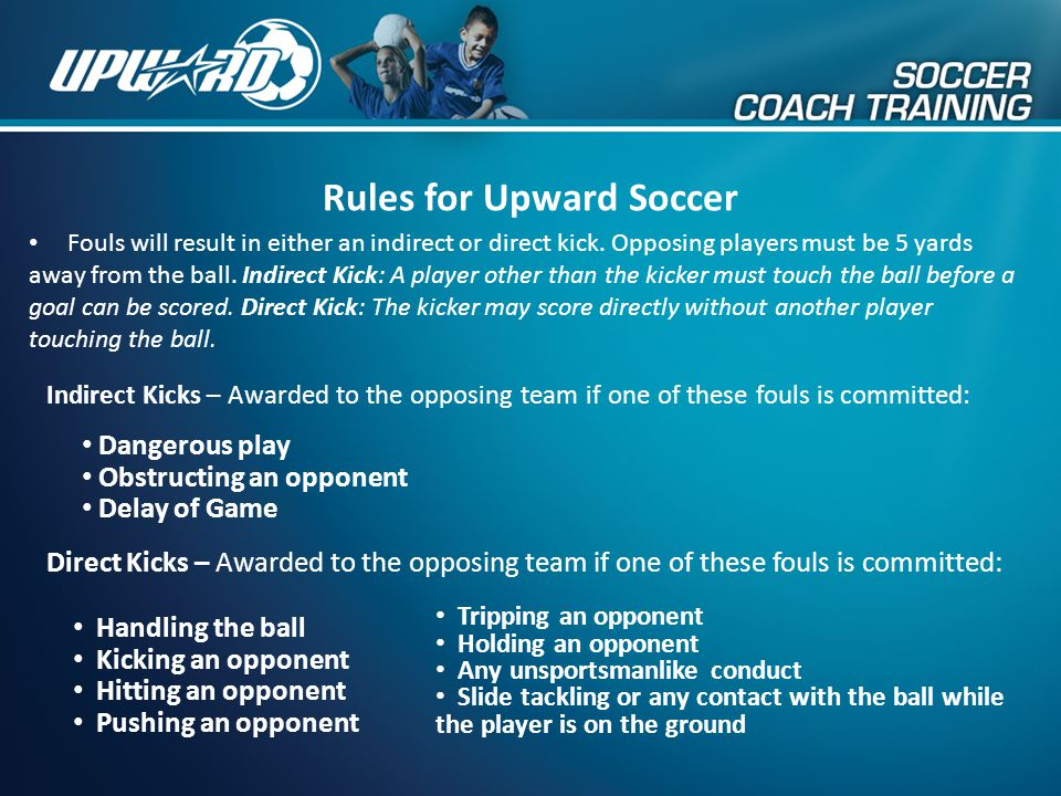 Rules for Upward Soccer