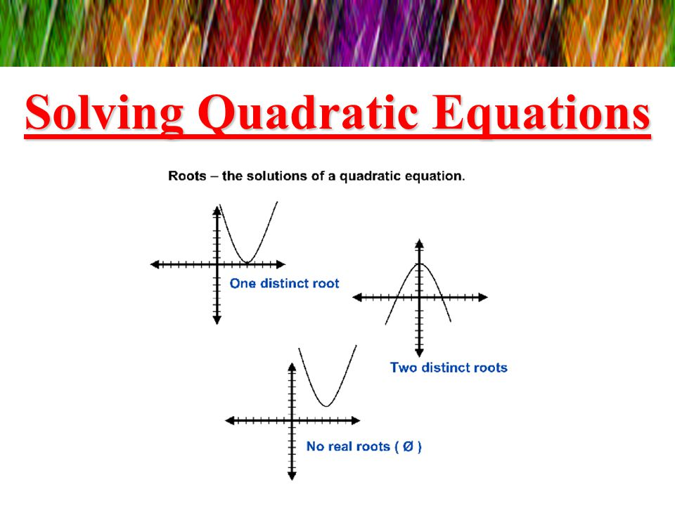 how to solve a quadratic equation with 2 unknowns