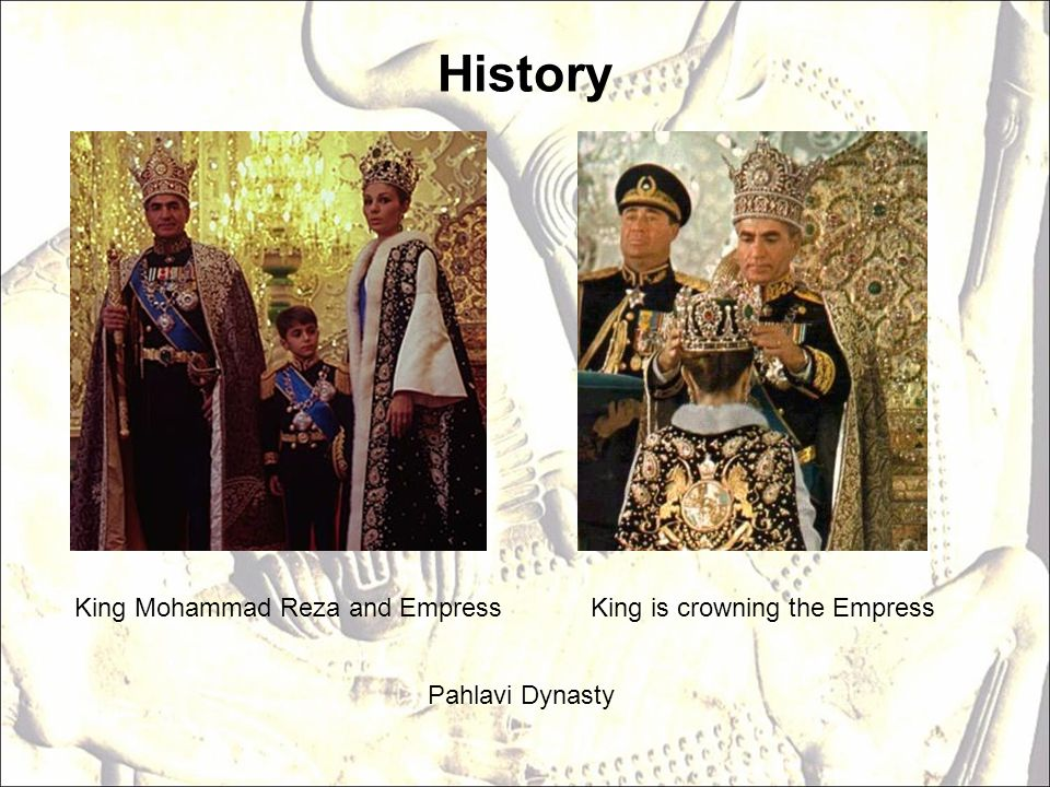 History King Mohammad Reza and Empress King is crowning the Empress
