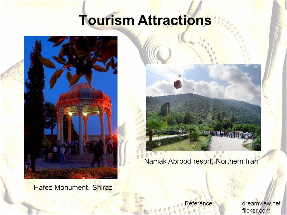 Tourism Attractions Namak Abrood resort, Northern Iran