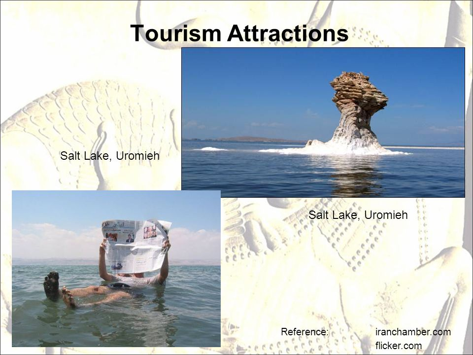 Tourism Attractions Salt Lake, Uromieh Salt Lake, Uromieh