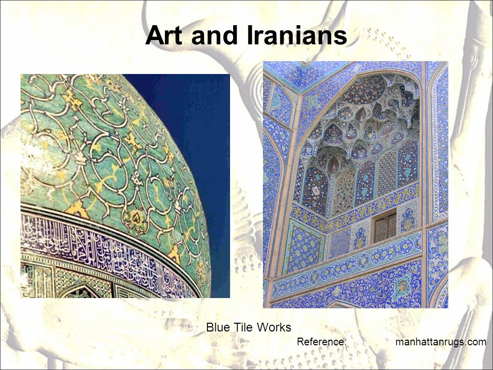 Art and Iranians Blue Tile Works Reference: manhattanrugs.com